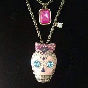 Betsy Johnson Skull Necklace